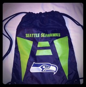 NFL Packers & Seahawks Drawstring Backpack New